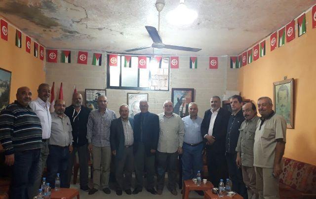 وفد من قيادة حركة فتح يزور الشعبية في صيدا