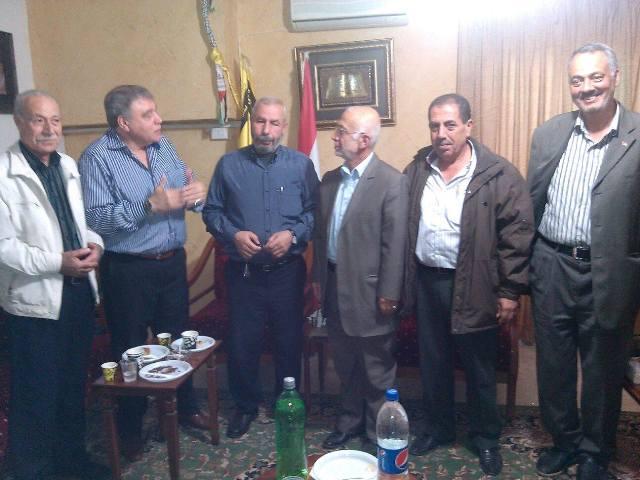 أمين سر حركة فتح في الشمال يزور عضو المكتب السياسي في حزب الله
