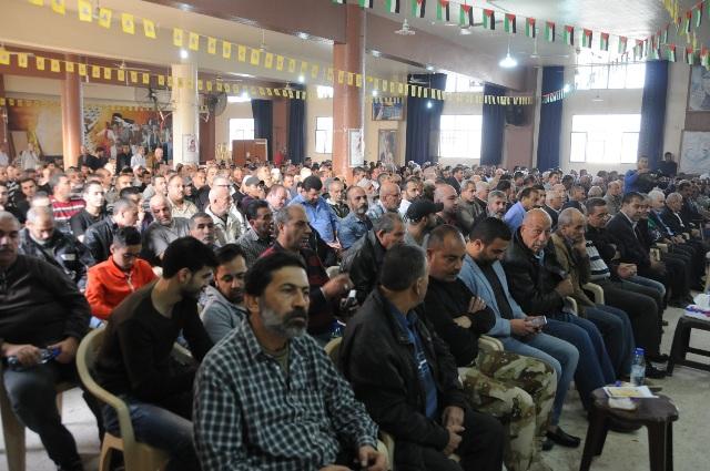 حركة فتح تؤبن الشهيد ابو محمود قشقوش بمهرجان جماهيري
