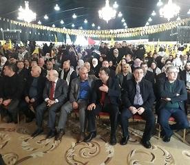 الشعبية تشارك في المهرجان الذي أقامته حركة فتح بذكرى انطلاقتها الـ 54