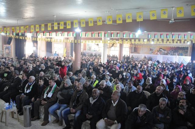 مهرجان جماهيري في الشمال احياءً للذكرى 52 لانطلاقة الثورة الفلسطينية
