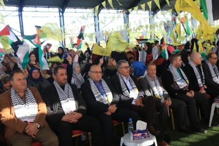 الشعبية في صيدا تشارك في مهرجان انطلاقة حركة فتح الثالثة والخمسين وذكرى الشهيد الفلسطيني