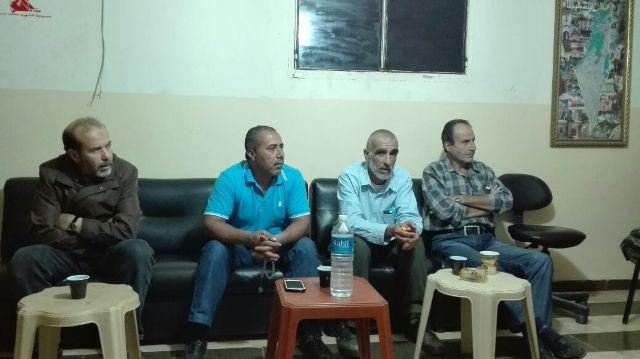 الجبهة الشعبية لتحرير فلسطين تلتقي حركة فتح الانتفاضة في الشمال .