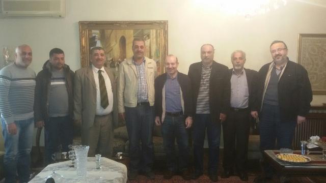 الجبهة الشعبية وجبهة النضال الشعبي الفلسطيني في لقاء مع النائب السابق الدكتور مصطفى علوش
