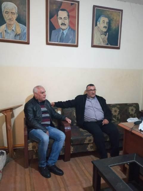 استقبل نائب مسؤول لجنة الأسرى للشعبية في لبنان مسؤول لجنة الأسير يحيى سكاف