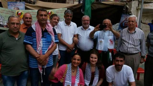وفد من الفاتيكان يزور خيمة التضامن مع الأسرى في مخيم شاتيلا
