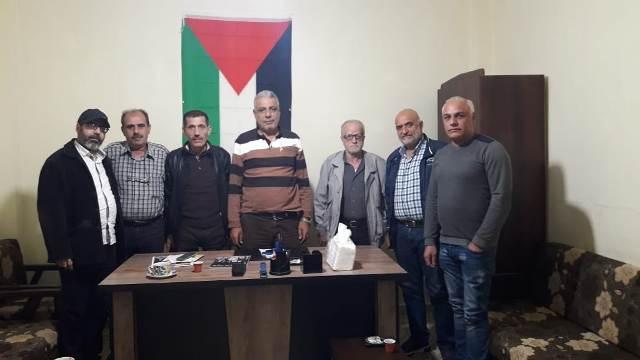 الجبهة الشعبية في بيروت تلتقي القوة الأمنية في مخيم برج البراجنة
