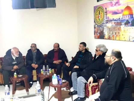 اللجان العمالية الشعبية الفلسطينية تزور لجنة حي الطيرة