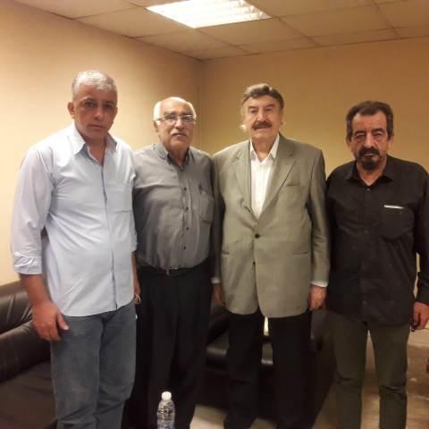 وفد من الشعبية يزور رئيس المؤتمر الشعبي كمال شاتيلا في بيروت
