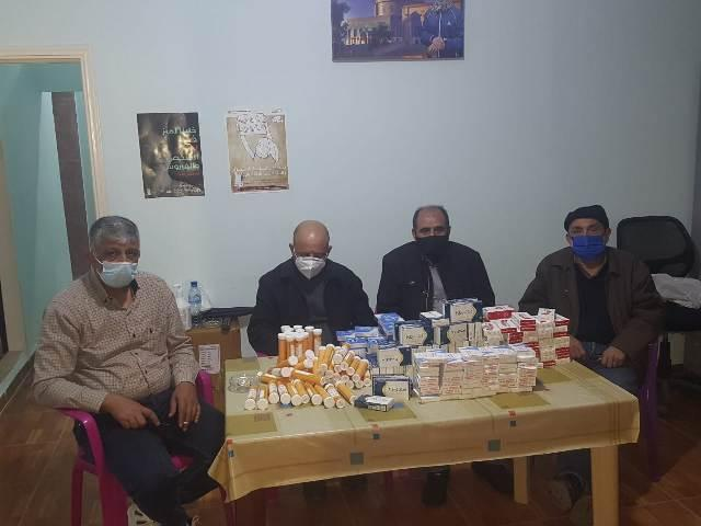 لجنة التوأمة الفلسطينية الفرنسية توزع المساعدات على العائلات المتعففة