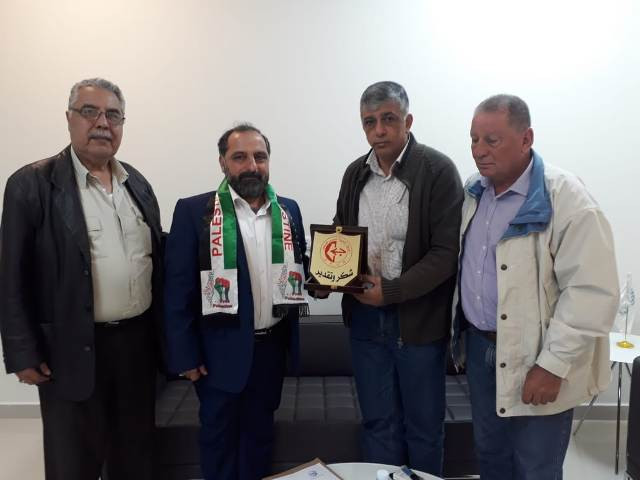 الجبهة الشعبية لتحرير فلسطين تزور  مستشفى الرسول الأعظم