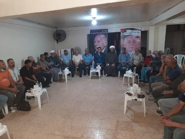 الشعبية تقدم واجب العزاء بوفاة امين عام الجبهة الشعبية القيادة العامة احمد جبريل