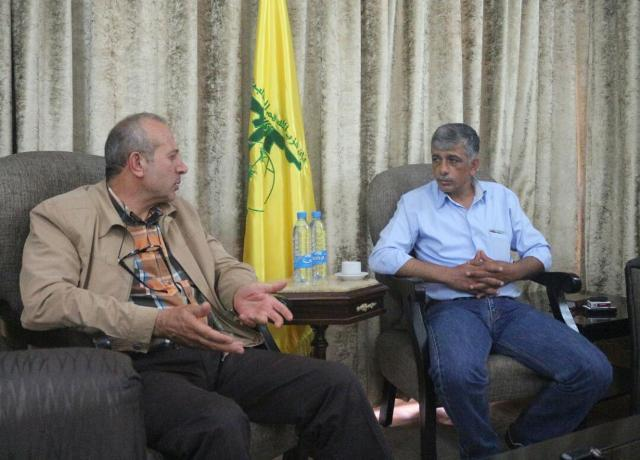 اللجنة الاجتماعية للجبهة الشعبية في لبنان تطمئن على الشيخ عطالله حمود