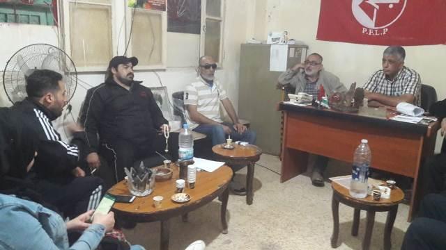 وفد من نازحي سوريا يزور الجبهة الشعبية لتحرير فلسطين في برج البراجنة