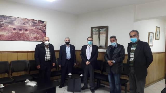 وفد نقابي من الجبهة الشعبية في منطقة صيدا يزور الدكتور عبد الرحمن البزري