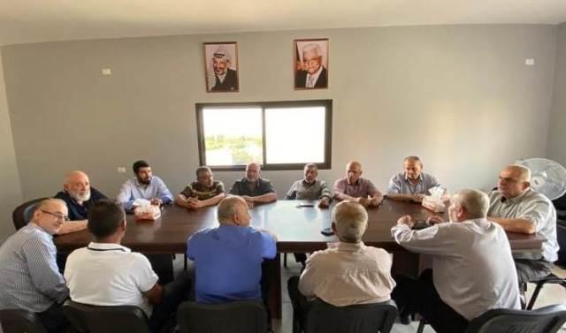 اجتماع لفصائل منظمة التحرير الفلسطينية وقوى التحالف واللجان الشعبية والأهلية في مخيم الرشيدية