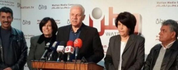 بيان سياسي صادر عن خمسة فصائل في منظمة التحرير الفلسطينية