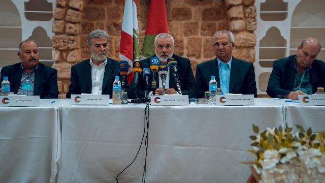 فصائل العمل الوطني تلتقي رئيس المكتب السياسي لحركة حماس إسماعيل هنية