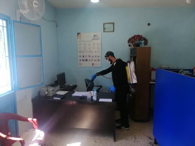 منظمة الشبيبة الفلسطينية في مخيم الجليل تقوم بحملة تعقيم عامة في المخيم