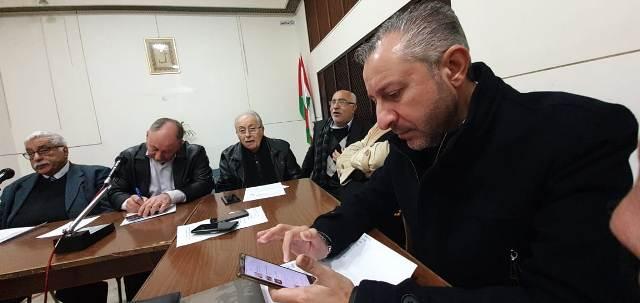 لقاء في دار الندوة لنصرة فلسطين