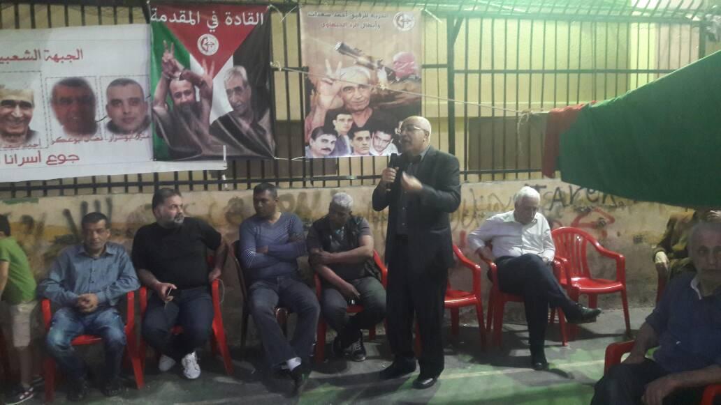 أبو جابر: يجب دعم الأسرى والأسيرات في سجون الاحتلال