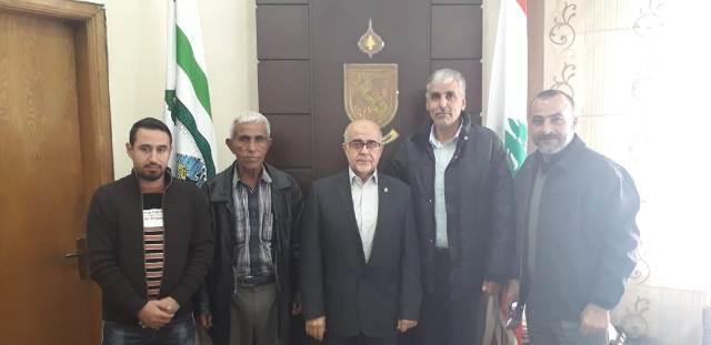 اللجان الشعبية ل.م.ت.ف تلتقي رئيس بلدية رئيس بلدية طرابلس