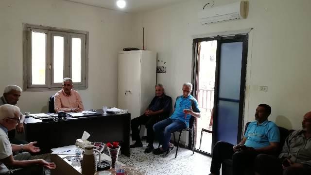 اجتماع في مكتب اللجان الشعبية ل.م.ت.ف في مخيم البداوي