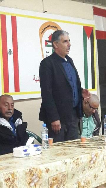 أمين سر اللجان الشعبية يلتقي بوفد من اللجنة الشعبية في مخيم البداوي