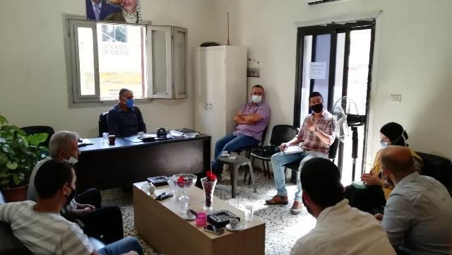 سلسلة لقاءات للجان الشعبية وال UNDP والانروا ولجان الاحياء تبحث مشاريع تحسين التجمعات في المناطق المحيطة لمخيم البداوي