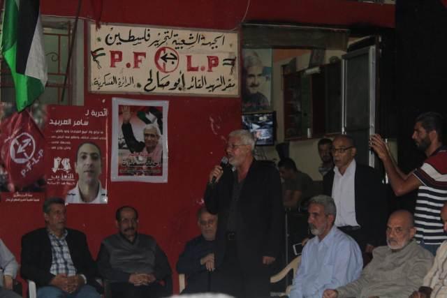 الشعبية في صيدا تقيم وقفة تضامنية مع الأسرى في سجون الاحتلال الصهيوني