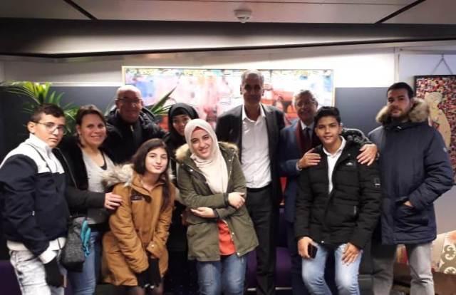 وفد التوأمة الفلسطيني يلتقي المدير العام لمعهد العالم العربي الدكتور معجب الزهراني في باريس