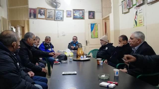 غنومي يلتقي أمين سر اللجنة الشعبية لمخيم البداوي