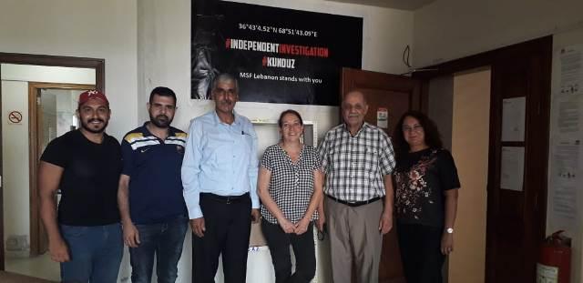 اللجان الشعبية تلتقي منظمة أطباء بلا حدود في طرابلس