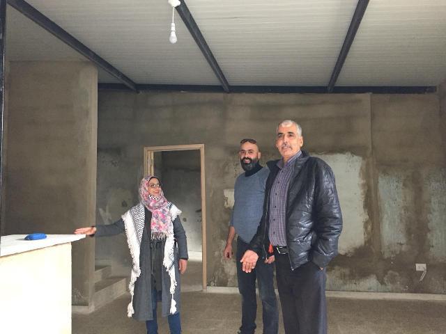 اللجان الشعبية تتفقد مشروع أعمال الترميم في منازل حي تلة المنكوبين وحي المسلخ المنفذ من UNDP بالتعاون مع اللجان الشعبية
