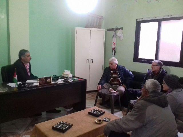 وفد من مؤسسة solidarites يزور اللجان الشعبية لمنظمة التحرير الفلسطينية في الشمال .