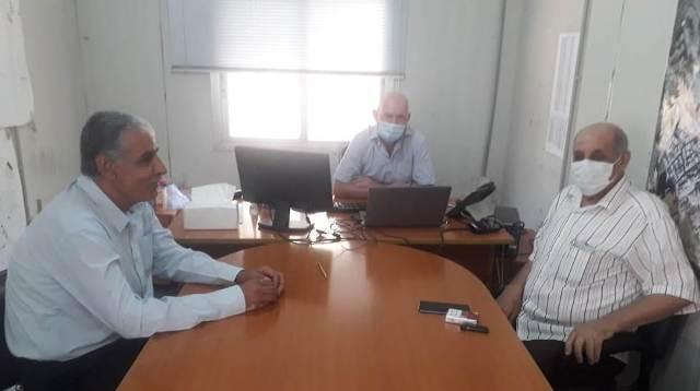 اللجان الشعبية تلتقي مدير مشروع إعادة إعمار مخيم نهر البارد