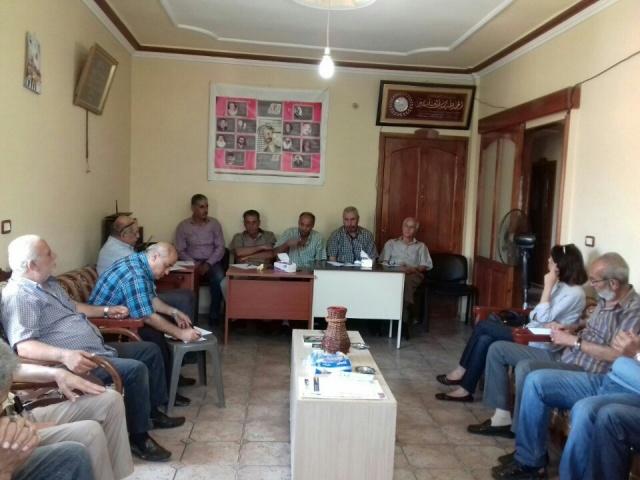 اجتماع موسع للجان الشعبية لمنظمة التحرير الفلسطينية في الشمال