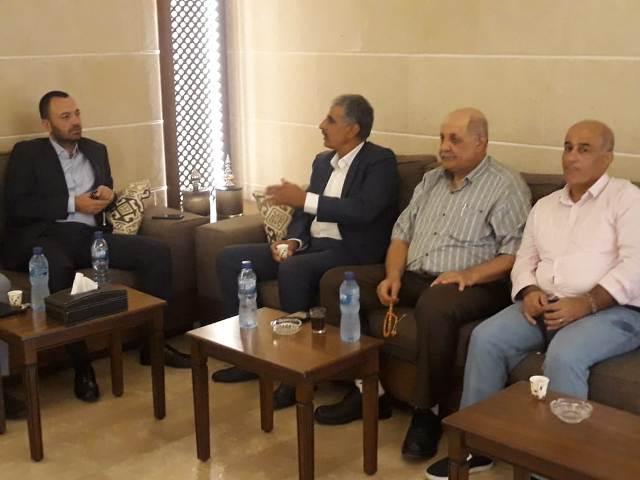اللجان الشعبية لمنظمة التحرير الفلسطينية تزور تيار المستقبل وآلـ زريقة في المنية