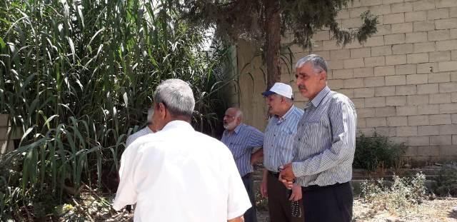 اللجنة الشعبية تتفقد حي (أبو بكر) في مخيم نهرالبارد