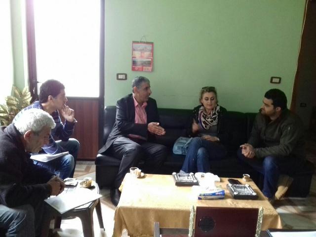 اللجان الشعبية في الشمال تستضيف رئيسة بعثة الصليب الأحمر الدولي السيدة فريا رادي على رأس وفد من المهندسين .