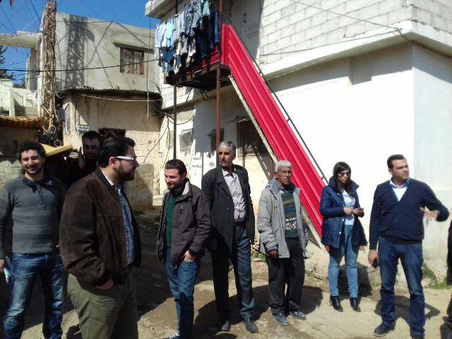 منظمة UNDP واللجان الشعبية تستطلع احتياجات منطقة تلة المنكوبين المهمشة