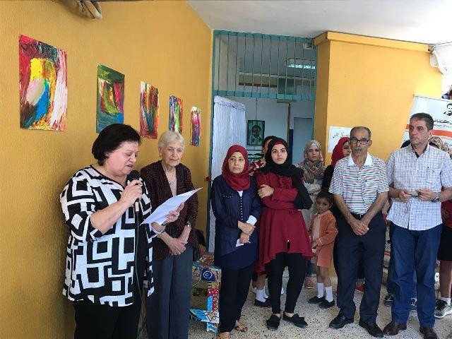 معرض لأطفال مؤسسة غسان كنفاني في مخيم عين الحلوة