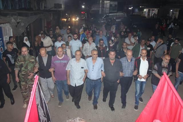 الشعبية في مخيم البداوي تحيي ذكرى النكبة ال 73  وتتضامن مع اهلنا في القدس وغزة