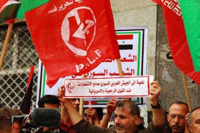 خلال وقفة تضامن مع سوريا: الشعبية تدعو لتشكيل غرفة عمليات مشتركة بين قوى المقاومة