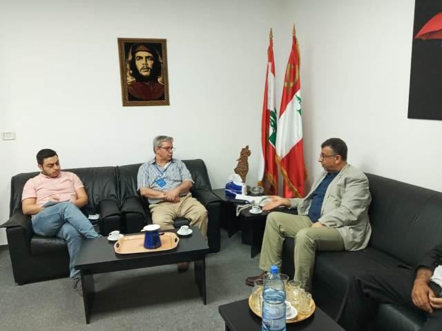 اجتماع بين الجبهة الشعبية والحزب الشيوعي اللبناني