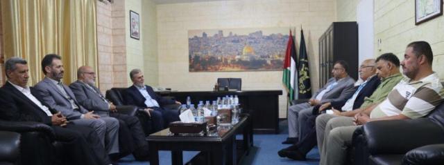 قيادة الجبهة الشعبية في لبنان تزور الأمين العام لحركة الجهاد الإسلامي زياد نخالة
