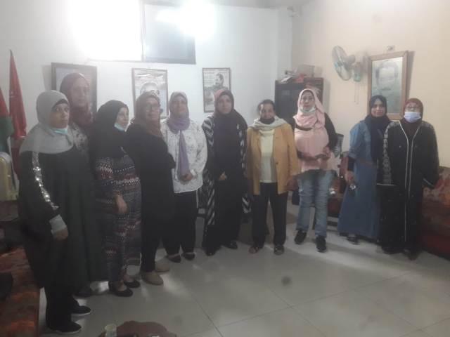 لجان المرأة الشعبية الفلسطينية في منطقة صيدا تستقبل وفدًا نسائيًّا من حزب فدا