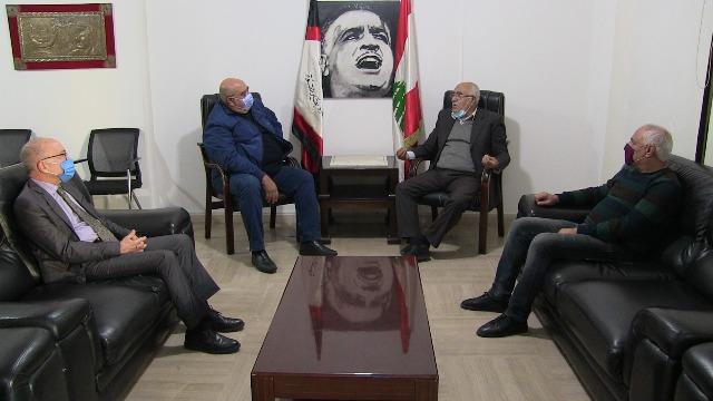 الجبهة الشعبية لتحرير فلسطين تلتقي  العميد مصطفى حمدان أمين الهيئة القيادية في حركة الناصريين المستقلين-المرابطون