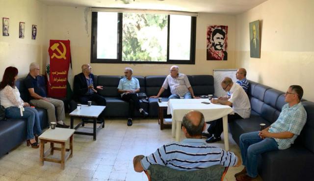 وفد من الجبهة الشعبية يزور نائب الأمين العام للحزب الديمقراطي الشعبي محمد حشيشو