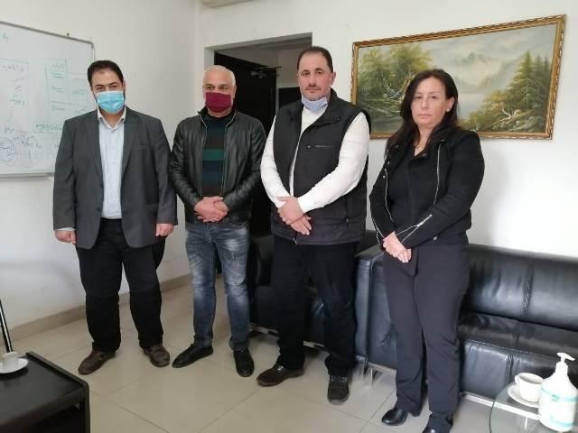 المكتب الإعلامي للجبهة الشعبية يزور مكتب فضائية فلسطين اليوم في بيروت